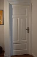 Drzwi wewnętrzne drewniane białe