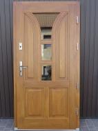 Drzwi zewnętrzne z drewna